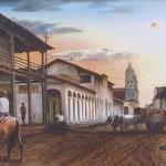 La calle Sucre con la Catedral al fondo