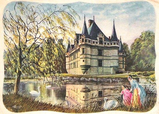 Château d'Azay-le-Rideau (Indre-et-Loire, Centre - Val de Loire)